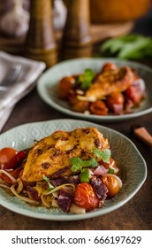 Grilled chicken steak with roasted vegetable, delish meal