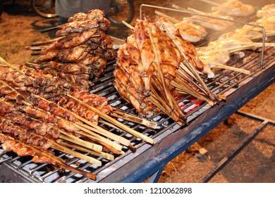 Grilled Chicken, Street food in Thailand