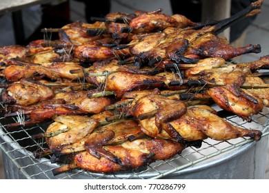 Grilled chicken Thai food