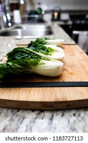 grilled chinese cabbage, bok choi or bok choy