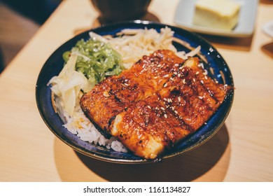 grilled eel over rice
