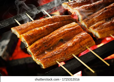 Grilled eel with soy based sauce