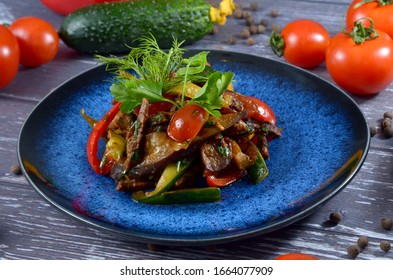 grilled eggplant with dried tomatoes,arugulla and nuts