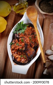 grilled eggplant with spices, traditional recipe of Morocco