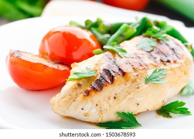 Grilled fish with fresh tomatoes