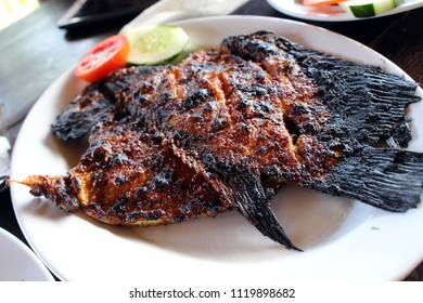 """Grilled fish - Indonesian version. Or locally known as """"Ikan Bakar""""."""