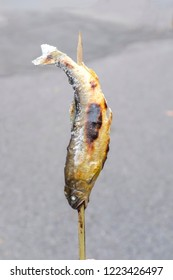 grilled fish in a stick