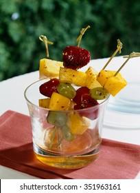 Grilled Fruit Kebab