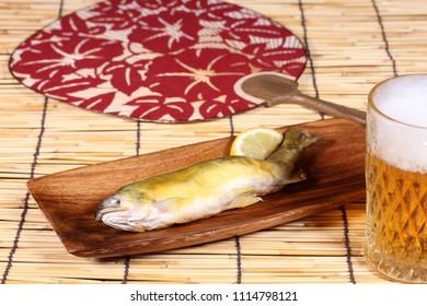 Grilled japanese sweetfish,Ayu