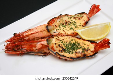 Grilled King Tiger Prawn with Pollock Roe