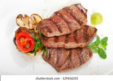 grilled Kobe Miyazaky beef with fresh vegetables