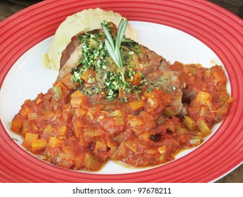 Grilled Lamb served with tomato paste and mash potato.