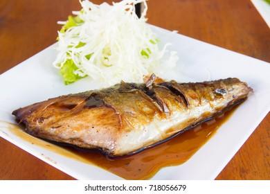 Grilled mackerel fish