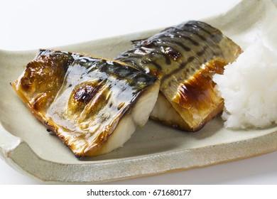 Grilled Mackerel in japanese food