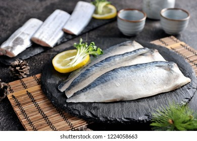 grilled mackerel on a plate