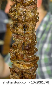 Grilled meat at a restaurants barbecue event