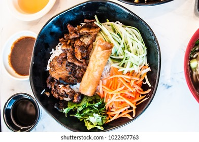 Grilled Meats and Egg Roll Vermicelli