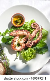 Grilled Octopus on the Table