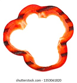 Grilled Paprika or Bell Pepper slice, top view