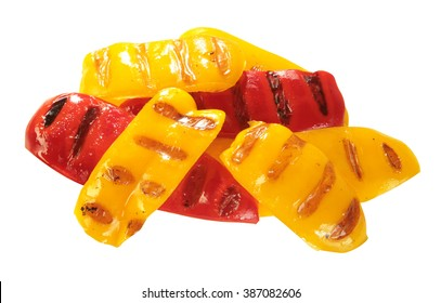 Grilled pepper isolated