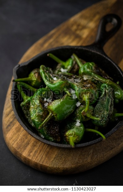 Grilled pimento de Padron, Spanish peppers