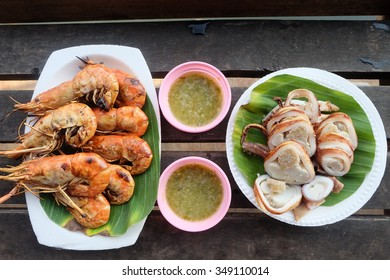grilled prawns and octopus