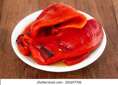 grilled red pepper on plate
