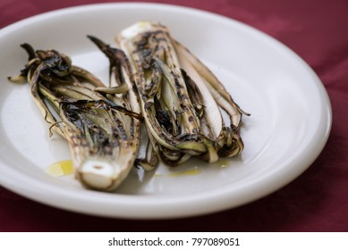 Grilled red radicchio from Treviso, italian recipe