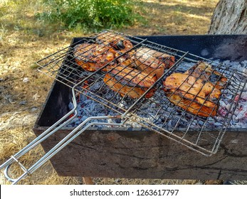 Grilled salmon, fish on the grill
