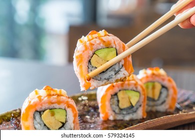 Grilled Salmon Roll Images Stock Photos Vectors Shutterstock