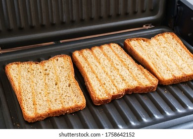 Grilled sandwich bread. Selective focus.