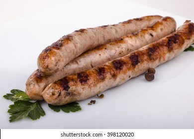 Grilled sausage with pepper