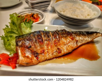 grilled  seabass  in soy  sauce