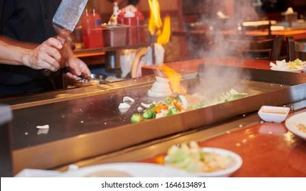 Grilled shrimp, chicken, vegitables and fried rice.