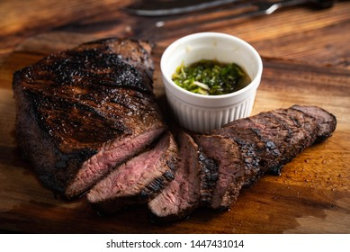 grilled and sliced tri tip steak
