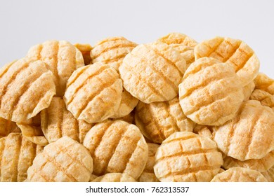 grilled snack on white background