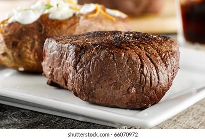 grilled steak dinner.
