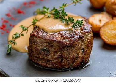 grilled steak filet Mignon
