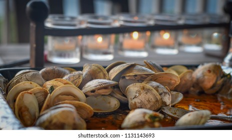 Grilled Steamed Clams On A Summer Evening