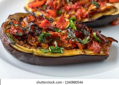 grilled stuffed aubergine a turkish dish