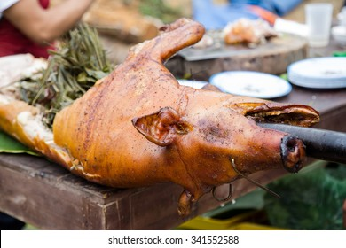 Grilled suckling pigs, traditional food