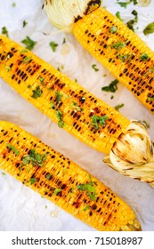Grilled Sweet Corn on The Cob with Cilantro and Honey, Idea for Grilled Menu