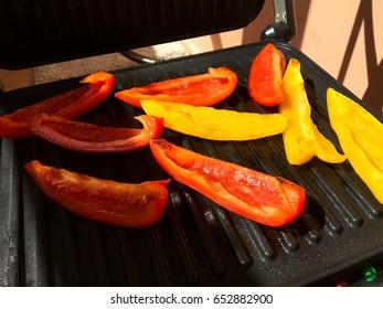 Grilled vegetables (peppers). Horizontal shot