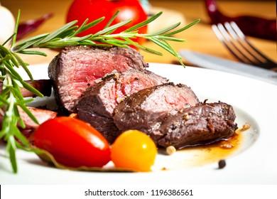 grilled venison fillet
