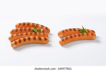 Grilled Vienna sausages  - studio shot