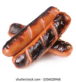 Grillet Sausages Isolated on White