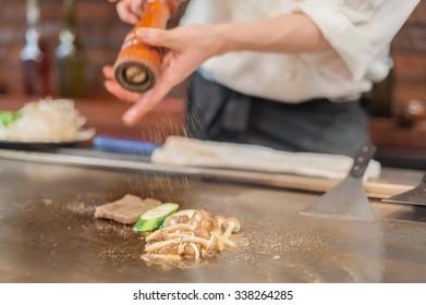 Grilling beef steak (japanese kobe matsusaka)