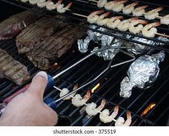 grilling food