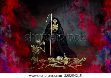 Grim Reaper Hell Rid Misbehave Soul Stock Photo Edit Now 325254215
