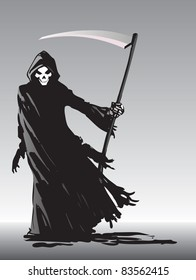 Grim Reaper illustration - raster version